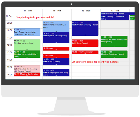 Advanced Calendar Module for vTiger CRM
